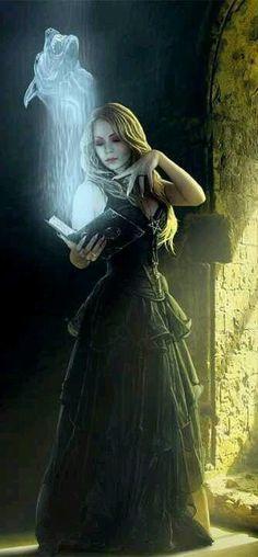 Dark Witch and Magical Creature (Werewolf) Dark Fantasy, Fantasy World, Fantasy Art, Fantasy Witch, Character Inspiration, Character Art, Character Portraits, Writing Inspiration, Halloween Imagem