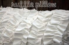 ruffle pillow how to Jones Design Company