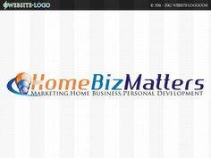 Website Logo Design for Home Biz Matters Website Logo, Unique Logo, Branding Your Business, Brand You, Identity, Logo Design, House Design, Logos, Creative