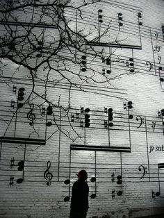 Street art in Berlin! street art is one of the best creative arts in the world! Banksy, Graffiti Art, Music Graffiti, Street Graffiti, Wall Street, Amazing Street Art, Amazing Art, Awesome, Amazing Music