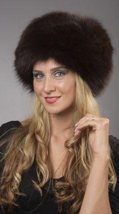 Cappello in  volpe peken naturale.  www.amifur.com