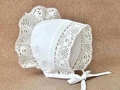 Шьем нарядный чепчик для малышки   Ярмарка Мастеров - ручная работа, handmade