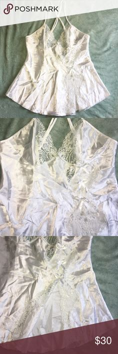 """FREDRICK'S OF HOLLYWOOD Night Top Sleepwear FREDRICK'S OF HOLLYWOOD Night Top Sleepwear Lingerie in Excellent """"Like New"""" Condition. I doubt this has been worn. Listing as New with wrinkles, Size Small., 100% Polyester. Hand wash/Line Dry. See Pictures for Details & Measurements. Please make sure this will fit before purchasing! 🌹 Don't forget to look at my other items! 💕Bundle & $ave💕 If over 5 lbs, Extra Shipping Fees Apply. Contact me 1st & I can let you know the weight of your bundle…"""