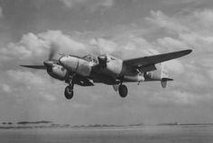Lockheed P-38L of the 27th FS, 1st FG landing at Foggia, Italy, 1945