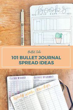 Bullet Journal Spread Ideas | Bullet Journal Spreads | Planner Ideas | Spread Ideas | Spread Inspiration