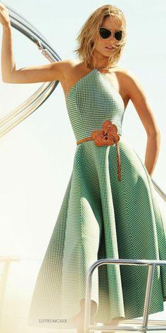 Gingham midi halter dress