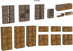 """Woost """"POWER"""" cupboards collection. Concept can be made from different materials, textures and colours. Let us know what you think."""