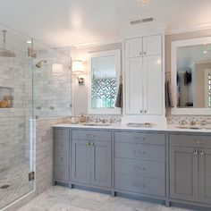 Gray And White Bathroom Design Ideas, Pictures, Remodel, and Decor