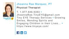 Officially the first Telepractice Physical Therapist for TinyEYE Therapy Services!