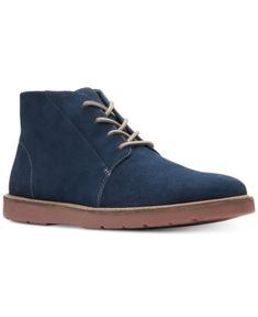 Clarks Men s Grandin Mid Casual Chukka Boots - Blue 9 Clarks Shoes Mens e5f39c514
