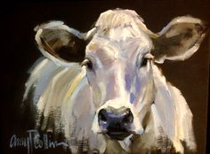 """Sweet Loretta"" - oil painting by Amy P. Farm Paintings, Paintings I Love, Animal Paintings, Landscape Paintings, Painting Inspiration, Art Inspo, Cow Pictures, Cow Painting, Farm Art"