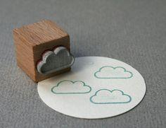 Stempel Wolke // cloud stamp by perlenfischer via DaWanda.com