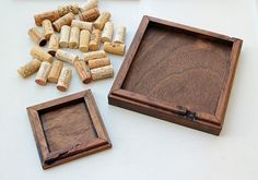 Rustic Wood Trivet Coaster Kit DIY Wine Cork Kit by TheWoodenBee