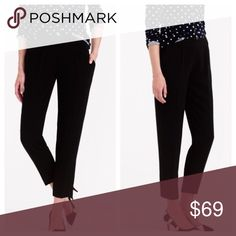 NWT J.Crew Black Curator Pant SIZE 4 🔅NWT. Retail $128. 🔅 Drapey crepe-like pant. Very flattering relaxed, well-tailored fit that is comfy, but still work appropriate. Hidden side zipper, two front pockets and two, quasi-back pockets. Best part is they're machine washable!🔅See photos above for JCrew listing on material, size, fit, and rating. 🔅 LMK if you need additional info or pics. Like it? Make an offer! J. Crew Pants Trousers