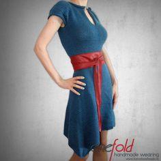 rochie tricotata scurta Waist Skirt, High Waisted Skirt, Knitwear, Skirts, Handmade, How To Wear, Dresses, Fashion, Tricot
