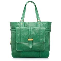 Heloise Large Tote, found on #polyvore. #bags #green #women