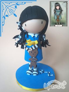 Mini fofucha Gorjuss by upendi,s, via Flickr