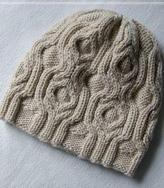 Узор для шапочки спицами