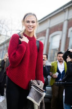 Karlie Kloss / On the Street : MFW A/W15 Day 2