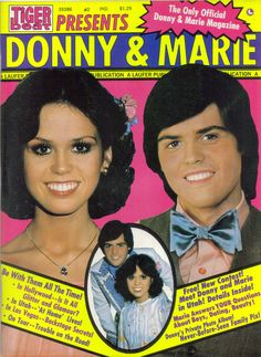 TIGER BEAT MAGAZINE PRESENTS DONNY & MARIE OSMOND #2 1977.Was my very first crush.Please check out my website thanks. www.photopix.co.nz