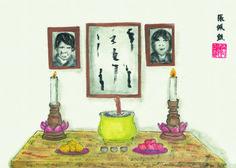 #ChineseArt #Painting Berdoa Pada Leluhur Chinese Painting, Chinese Art