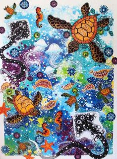 The largest collections of Aboriginal art and artefacts in Sydney. Seashell Painting, Turtle Painting, Dot Painting, Aboriginal Art Symbols, Aboriginal Painting, Ethno Design, Sea Turtle Art, Australian Art, Indigenous Art