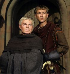 Derek Jacobi and Sean Pertwee in Cadfael, 1994-96