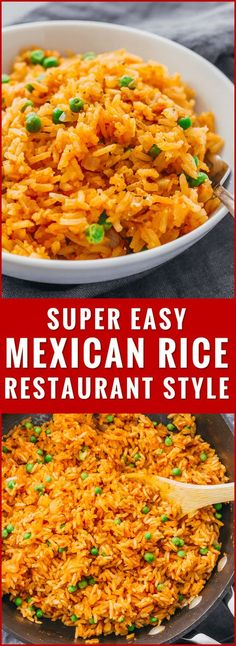 This mildly spicy Mexican rice is easily cooked using a pan on the stove, and has lime, onion, and garlic flavors. recipe, easy, authentic, restaurant style, healthy, quick, homemade, best, how to make mexican rice, for a crowd, vegetarian, with vegetables, peas, bowl, skillet, simple, oven, traditional, seasoning, white rice, tomato paste, bake, dishes, fluffy, skinny, real, spicy, meals, clean, gluten free, burrito, dinner, cilantro, leftover, with veggies, with peas, fast, for two