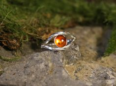 Sterling silver ring. Thumb ring. Ring with stone. Unique rings. Silver Amber ring. Amber jewellery. Gypsy rings. Twisted wire ring. by Eleftheriajewellery on Etsy https://www.etsy.com/listing/232799147/sterling-silver-ring-thumb-ring-ring