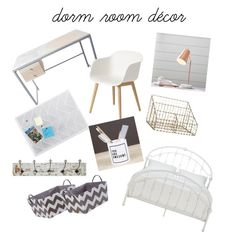 """Dorm room decor💫"" by abby-gains on Polyvore featuring interior, interiors, interior design, home, home decor, interior decorating, Volk, PBteen, Muuto and Inspire Q"
