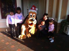 11/19/12 My Girls My Bby Boy, My Lil Niece and I with Pluto at DisneyLand