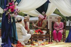 9a hindu indian wedding ceremony. More wedding photos: http://www.indianweddingsite.com/multicultural-fusion-new-york-indian-wedding-clarkwalker-studio/
