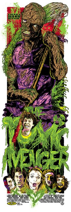 Troma's The Toxic Avenger - Regular. 12x36 8 colour screenprint - $25