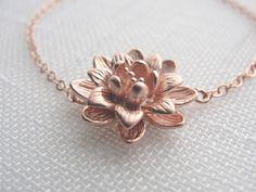 Flower Bracelet - Rose Gold -