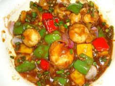 Mushroom Chilli, Chilli Mushroom Recipe, chilli