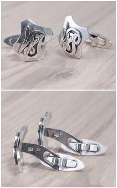 Spinki do manietów wykonane ze srebra. Cufflinks.