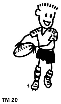 Family Car Stickers Rugby Boy