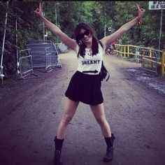 "#DaisyLowe Daisy Lowe Meet Glastonbury's Most Stylish Revellers #refinery29 via @refinery29 http://www.refinery29.com/glastonbury-street-style#slide2 Daisy Lowe's getup has us humming, ""to the left, to the left..."""