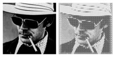 Mill your favorite pictures into wood with the online web-app from #Halvtone #huntersthompson #HST #fearandloathing #lasvegas #gonzo #blackwhite #wood #weed #interior #design #living #CNC #machine #milling #MDF