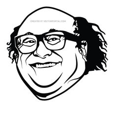 Actor Danny DeVito vector illustration