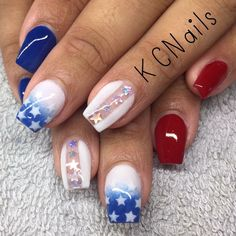Best of July Nail Art Designs nail art design gallery nail designs coffin nail designs for short nails step by step nail art stickers online nail art stickers walmart best nail wraps 2019 Essie, Hair And Nails, My Nails, Nail Art Designs, Diy Nails Stickers, Nail Design Spring, 4th Of July Nails, 4th Of July Makeup, July 4th