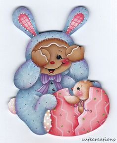 HP GINGERBREAD Bunny Easter Egg FRIDGE MAGNET