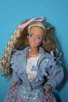 Barbie Feeling Fun - Barbie Jeans by 80Barbie collector, via Flickr If i had kept my crimping iron i could use it today. Who would have thought the crimp would be back
