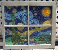 Starry Night window - MORE ART, LESS CRAFT