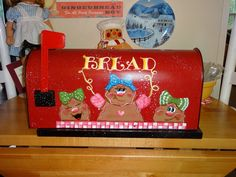 Gingerbread UpCycled Bread Box Gingerbread Decor by VickiesCrafts, $115.00