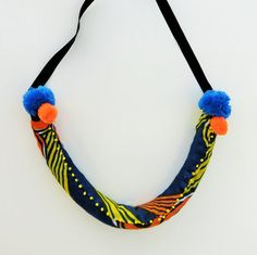 African jewelry fabric African necklace tribal necklace by JIAKUMA