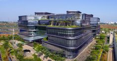 Village-inspired office in Jakarta is topped with living trees and a green roof | Inhabitat - Green Design, Innovation, Architecture, Green Building