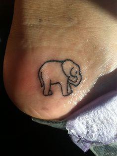 Heel foot elephant tattoo