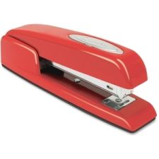 The classic Swingline red stapler that you love will add a pop of color to any desk.