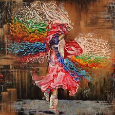 Karina Llergo Salto ~ Dance through the color of Life | Tutt'Art@ | Pittura * Scultura * Poesia * Musica | Native American Paintings, Native American Art, Oil Painting Abstract, Figure Painting, Watercolor Art, Stencils, Life Poster, Thing 1, Color Of Life